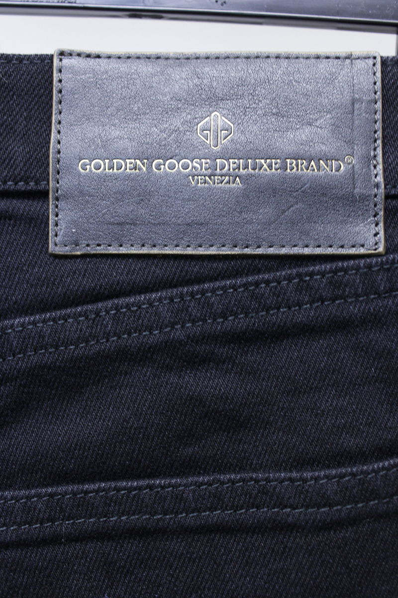 GOLDEN GOOSE DELUXE BRAND ブラックデニムポケットコーティングパンツ