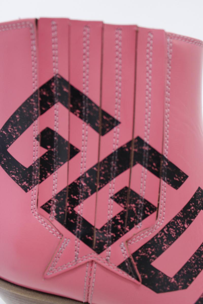 GOLDEN GOOSE DELUXE BRAND ロゴプリントサイドゴアショートブーツ(SUNSET)【18AW】
