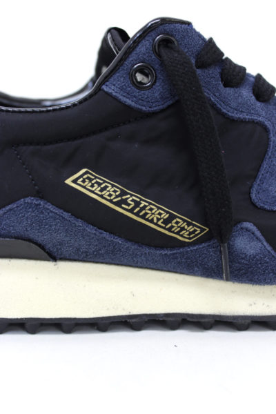 GOLDEN GOOSE DELUXE BRAND スウェード×ナイロンスタッドソールスニーカー(STARLAND)【18AW】