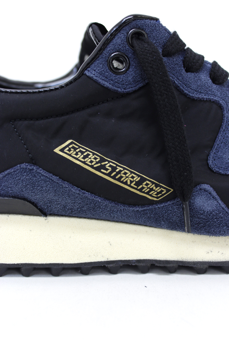 GOLDEN GOOSE DELUXE BRAND スウェード×ナイロンスタッドソールスニーカー(STARLAND)