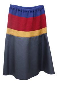 kolor ウエスト配色リブ切替スカート【18AW】