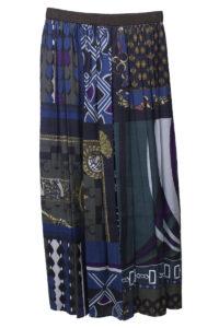 kolor 【NEW YEAR SALE-40%OFF (12/30〜)】スカーフ柄プリーツロングスカート【18AW】