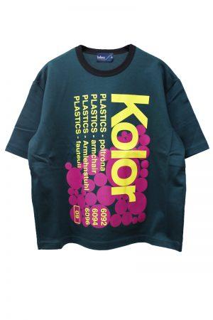 kolor 【40%OFF】ロゴワイドTシャツ【18AW】