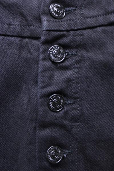 MM6 MAISON MARGIELA ブラックデニムフロントボタンワイドパンツ【18AW】