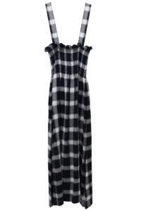 MM6 MAISON MARGIELA ブロックチェックシャーリングロングスカート【18AW】
