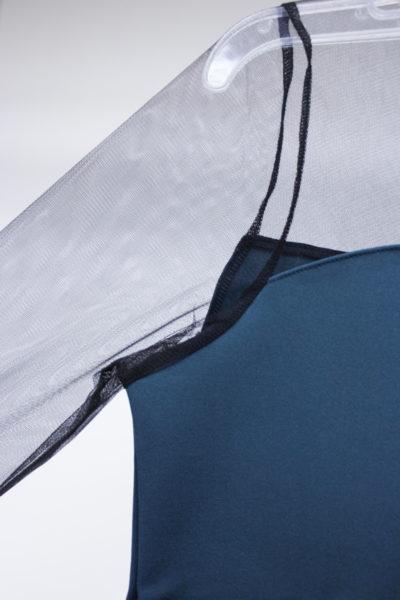 JOHN LAWRENCE SULLIVAN 【NEW YEAR SALE - 40%OFF (12/30〜)】メッシュ切替ハイネック長袖カットソー【18AW】