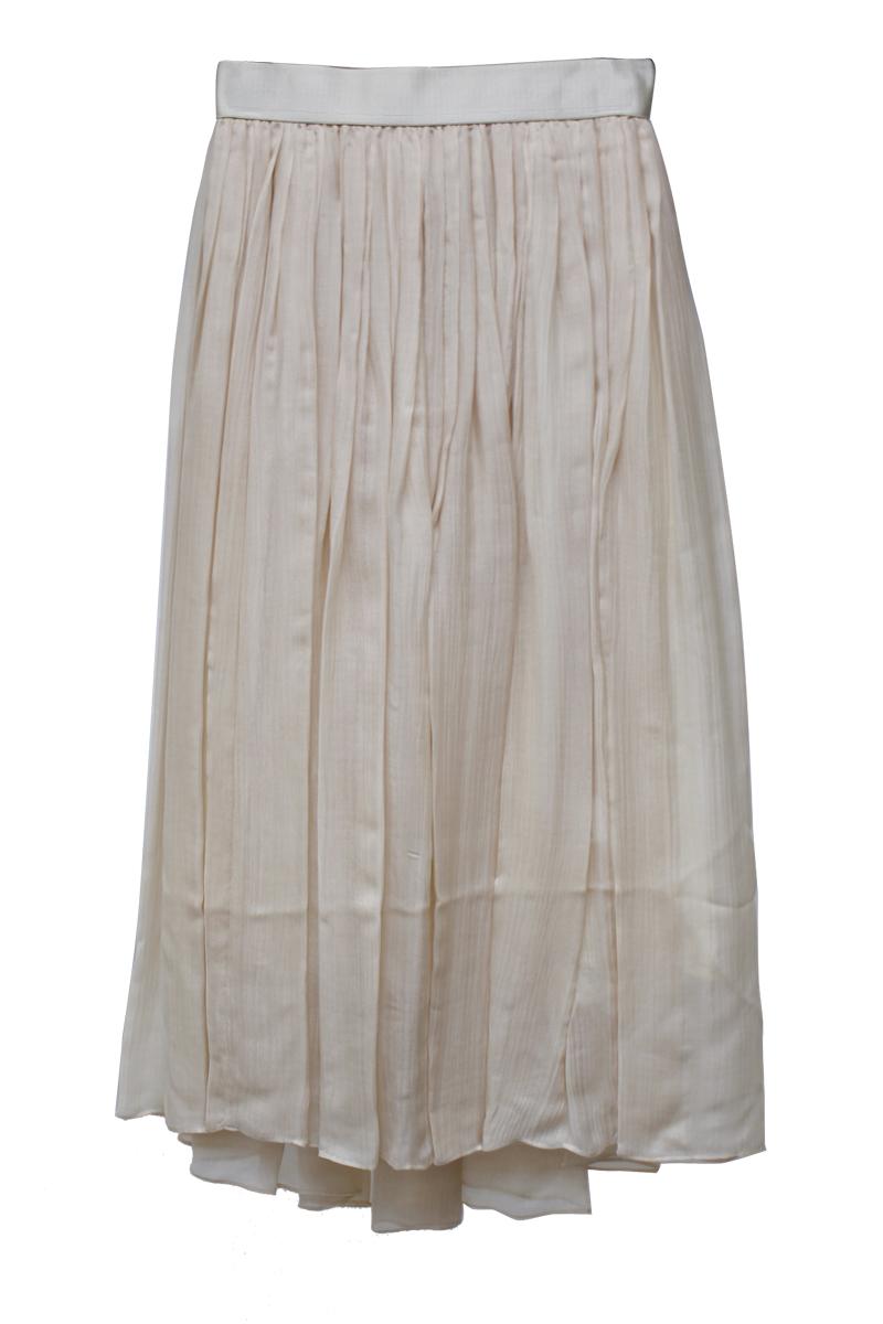 08 SIRCUS 【40%OFF】キュプラクレープギャザーロングスカート