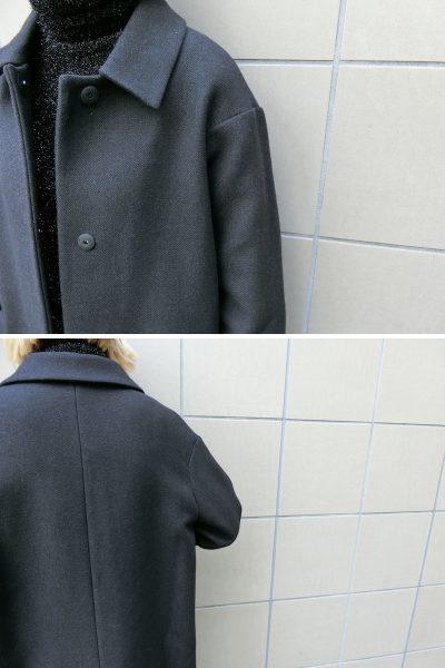 SARA LANZI ステンカラーウールコート【18AW】