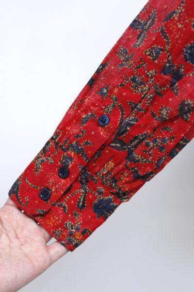 ISABEL MARANT ETOILE 【40%OFF】コットンフラワープリント刺繍フリルブラウス【18AW】