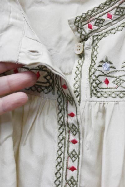 ISABEL MARANT シルク刺繍バルーンスリーブブラウス【18AW】