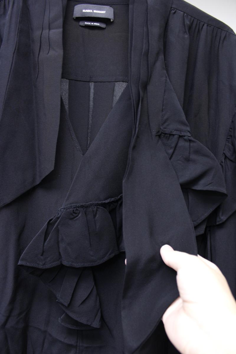 ISABEL MARANT 【40%OFF】シルクVネックフリルワイドブラウス 【18AW】