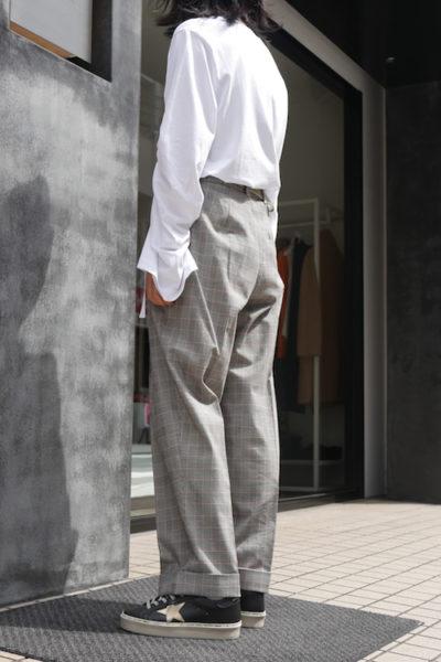 3.1 PHILLIP LIM 【40%OFF】グレンチェックセンタープレスパンツ【18AW】