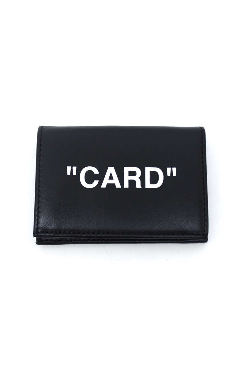 """OFF-WHITE """"SMALL FLAP""""カードケース【18AW】"""