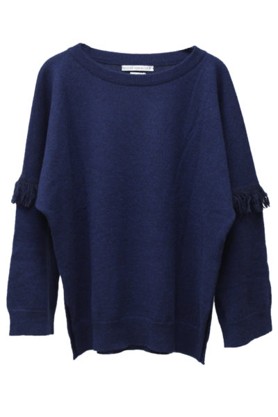 QUEENE and BELLE アームフリンジドルマンニット【18AW】