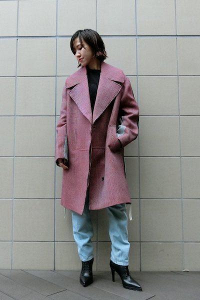 STELLA McCARTNEY 【NEW YEAR SALE -40%OFF (12/30〜)】カラー切替チェックロングコート【18AW】