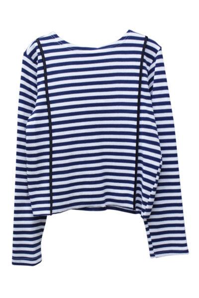 HARVEY FAIRCLOTH ボーダーORラインロングTシャツ【18AW】