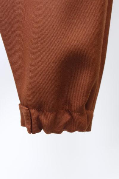 CHLOÉ ウール裾ベルトワイドパンツ【18AW】