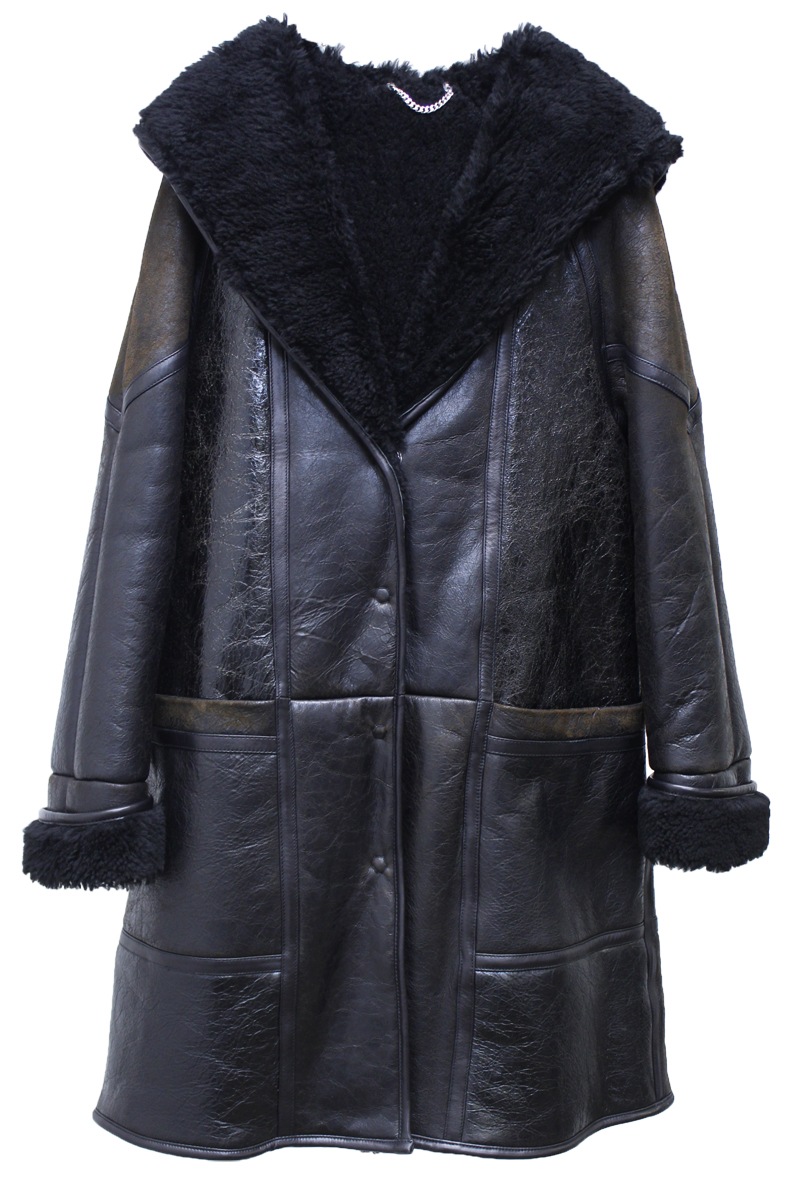 GOLDEN GOOSE DELUXE BRAND 【40%OFF】ムートンフードロングコート【18AW】