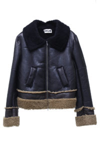 HACHE 【NEW YEAR SALE - 40%OFF (12/30〜)】ラムシェアリングZIPジャケット【18AW】