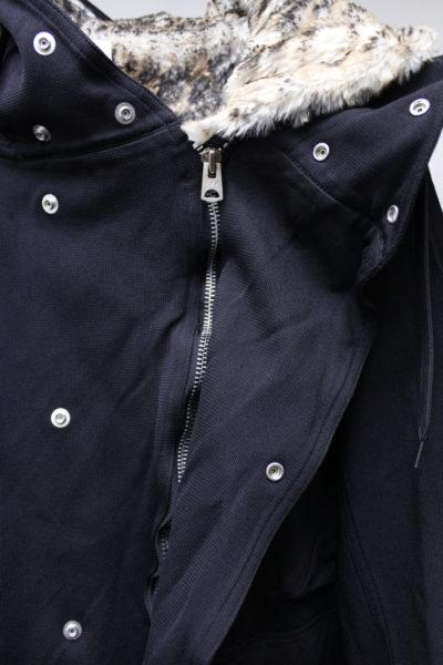 kiminori morishita 【NEW YEAR SALE - 40%OFF (12/30〜)】レオパードファーライナーミリタリーコート【18AW】