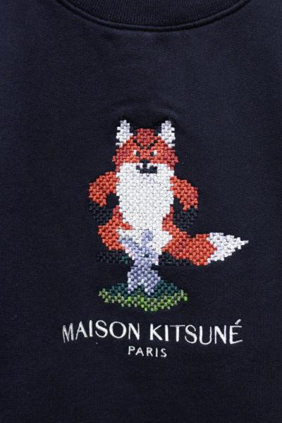 MAISON KITSUNÉ PIXEL FOXスウェットトップス【18AW】
