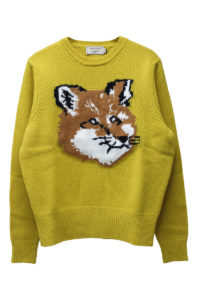MAISON KITSUNÉ 【NEW YEAR SALE -50%OFF (12/30〜)】FOX HEADニットプルオーバー【18AW】