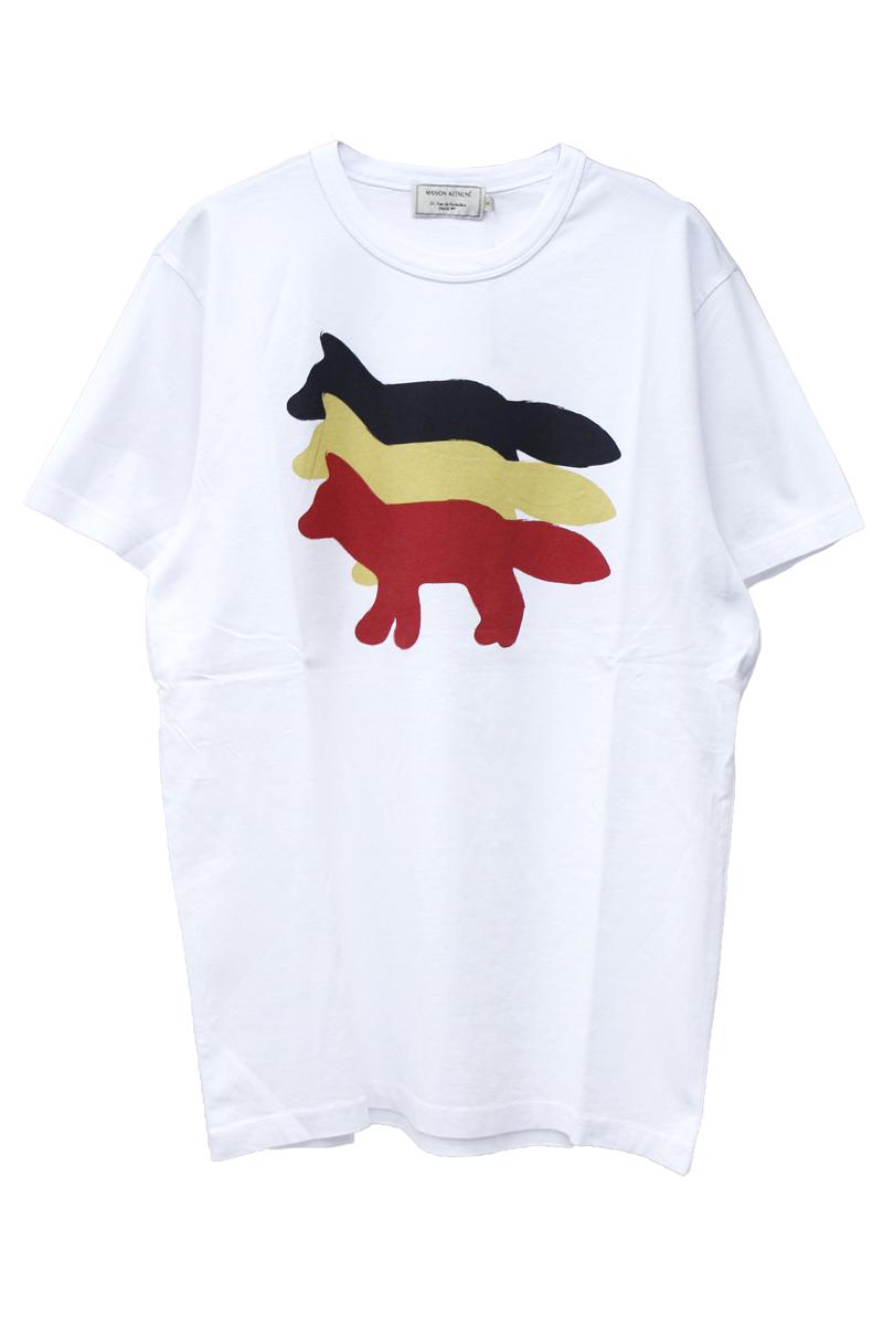 MAISON KITSUNÉ 【30%OFF】トリプルFOX Tシャツ【18AW】 - WHITE, S