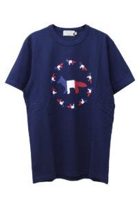 MAISON KITSUNÉ 【NEW YEAR SALE - 30%OFF (12/30〜)】トリコロールFOXフラッグTシャツ【18AW】