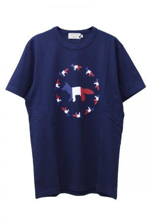 MAISON KITSUNÉ 【30%OFF】トリコロールFOXフラッグTシャツ【18AW】