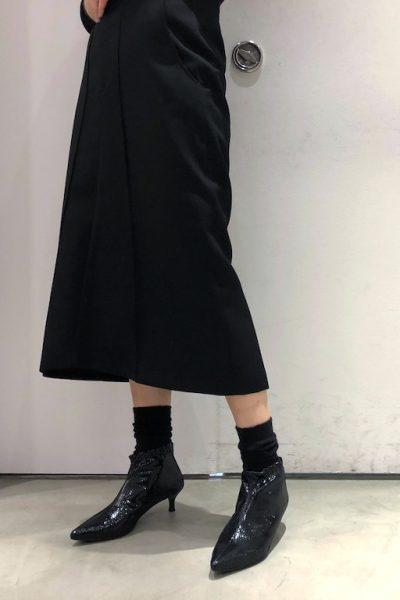 MARCOMONDE 【NEW YEAR SALE - 40%OFF (12/30〜)】パイソン風ギャザーアンクルブーツ【18AW】
