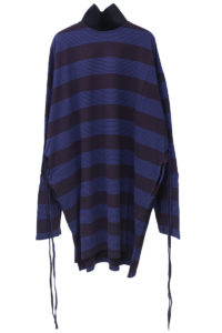 MM6 MAISON MARGIELA 【NEW YEAR SALE - 40%OFF (12/30〜)】ボーダーBIGハイネックトップス【18AW】