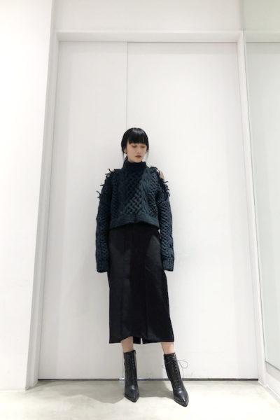 JOHN LAWRENCE SULLIVAN ローゲージショート丈ニット【18AW】