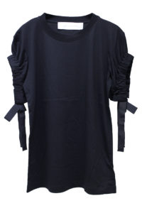 VICTORIA VICTORIA BECKHAM 【NEW YEAR SALE -40%OFF (12/30〜)】ギャザースリーブTシャツ【18AW】