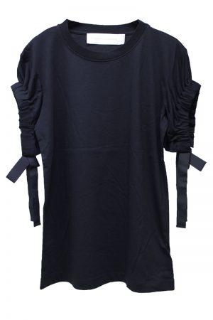 VICTORIA VICTORIA BECKHAM 【40%OFF】ギャザースリーブTシャツ【18AW】