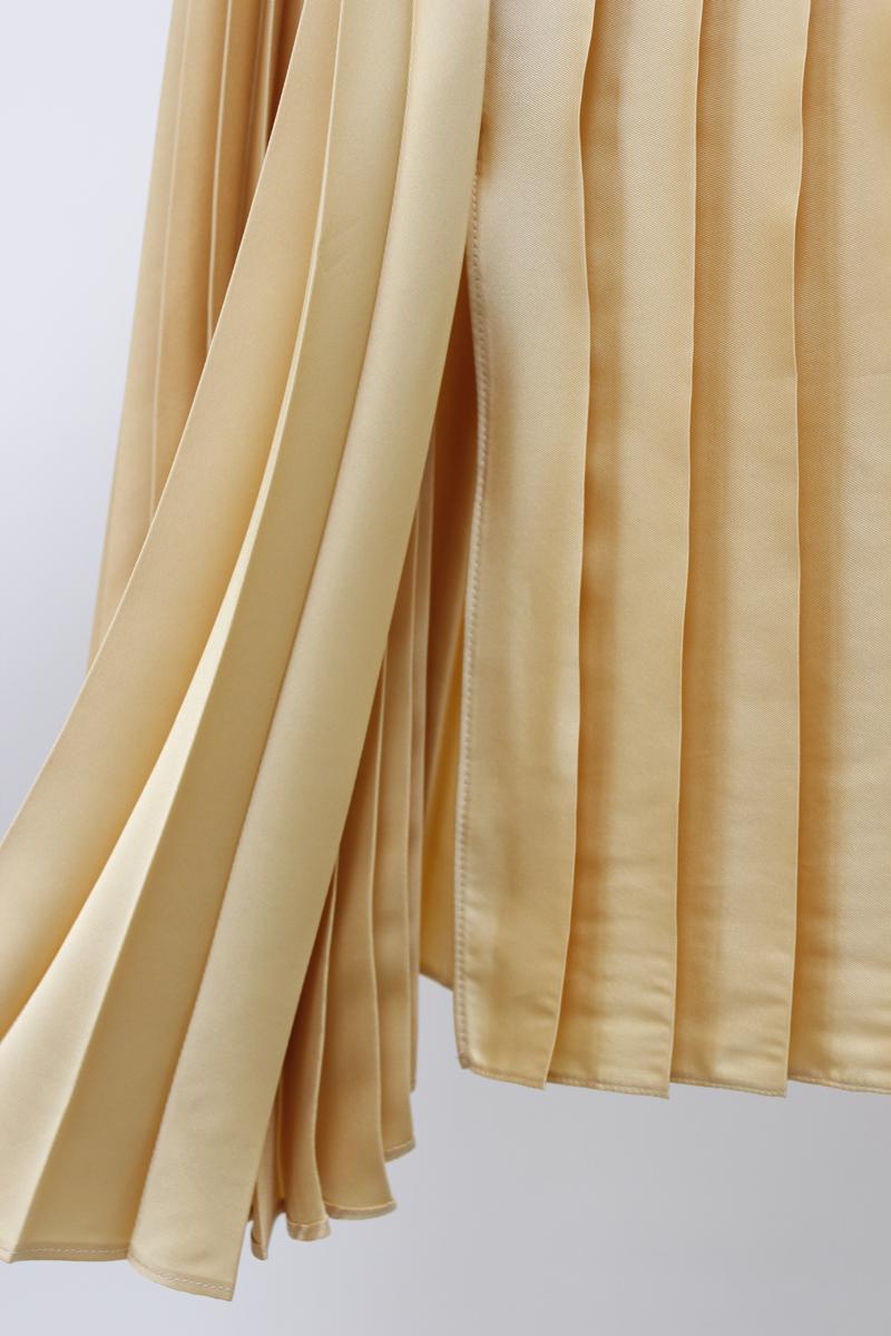 VICTORIA VICTORIA BECKHAM 【40%OFF】ドレーププリーツロングスカート【18AW】