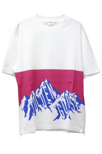 GOLDEN GOOSE DELUXE BRAND 【NEW YEAR SALE - 40%OFF (12/30〜)】マウンテンロゴサイドZIP Tシャツ【18AW】