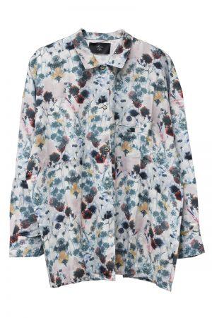 MAISON Olga 【40%OFF】水彩フラワー柄レギュラーシャツ【18AW】