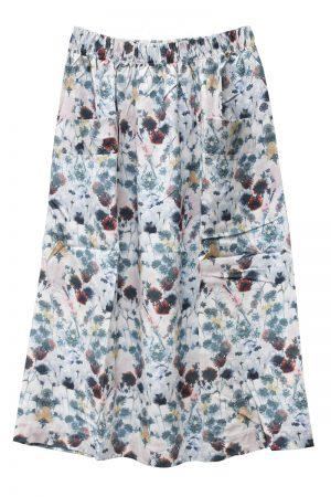MAISON Olga 【40%OFF】水彩フラワー柄ギャザースカート