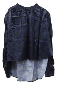 REKISAMI 【NEW YEAR SALE - 40%OFF (12/30〜)】ペイズリープリントワイド長袖ブラウス【18AW】