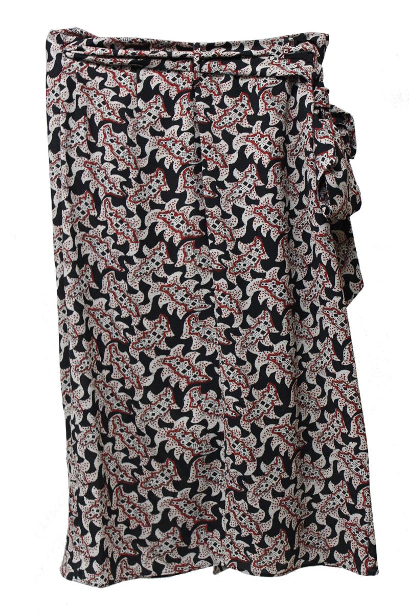 ISABEL MARANT ETOILE 【40%OFF】ポリエステルマルチ柄ラップスカート【18AW】