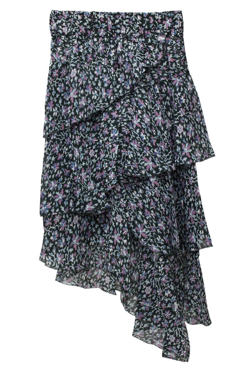 ISABEL MARANT ETOILE ビスコース花柄バイアスティアードスカート