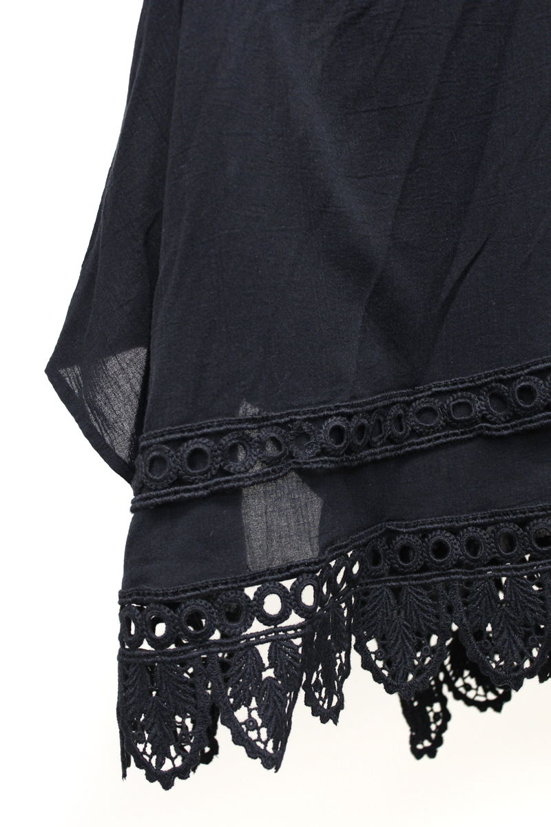 ISABEL MARANT ETOILE 【40%OFF)】コットン裾レースフレアースカート【18AW】