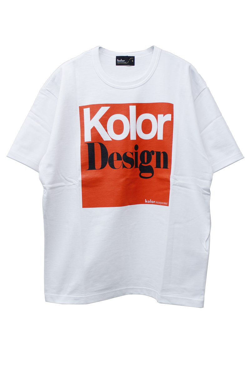 kolor 【40%OFF】Kolor Design Big Tシャツ【18AW】