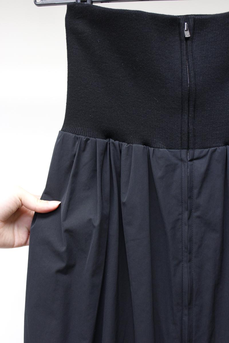lot lamb 【50%OFF】ウエストリブフレアースカート [18AW]