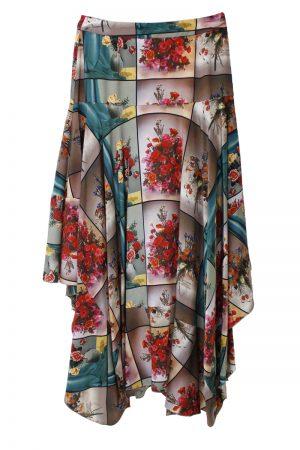 STELLA McCARTNEY 【30%OFF】パネルフラワーロングスカート【18AW】