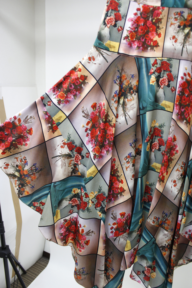 STELLA McCARTNEY パネルフラワーロングスカート