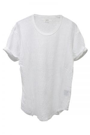 ISABEL MARANT ETOILE リネンロールアップTシャツ [19SS]