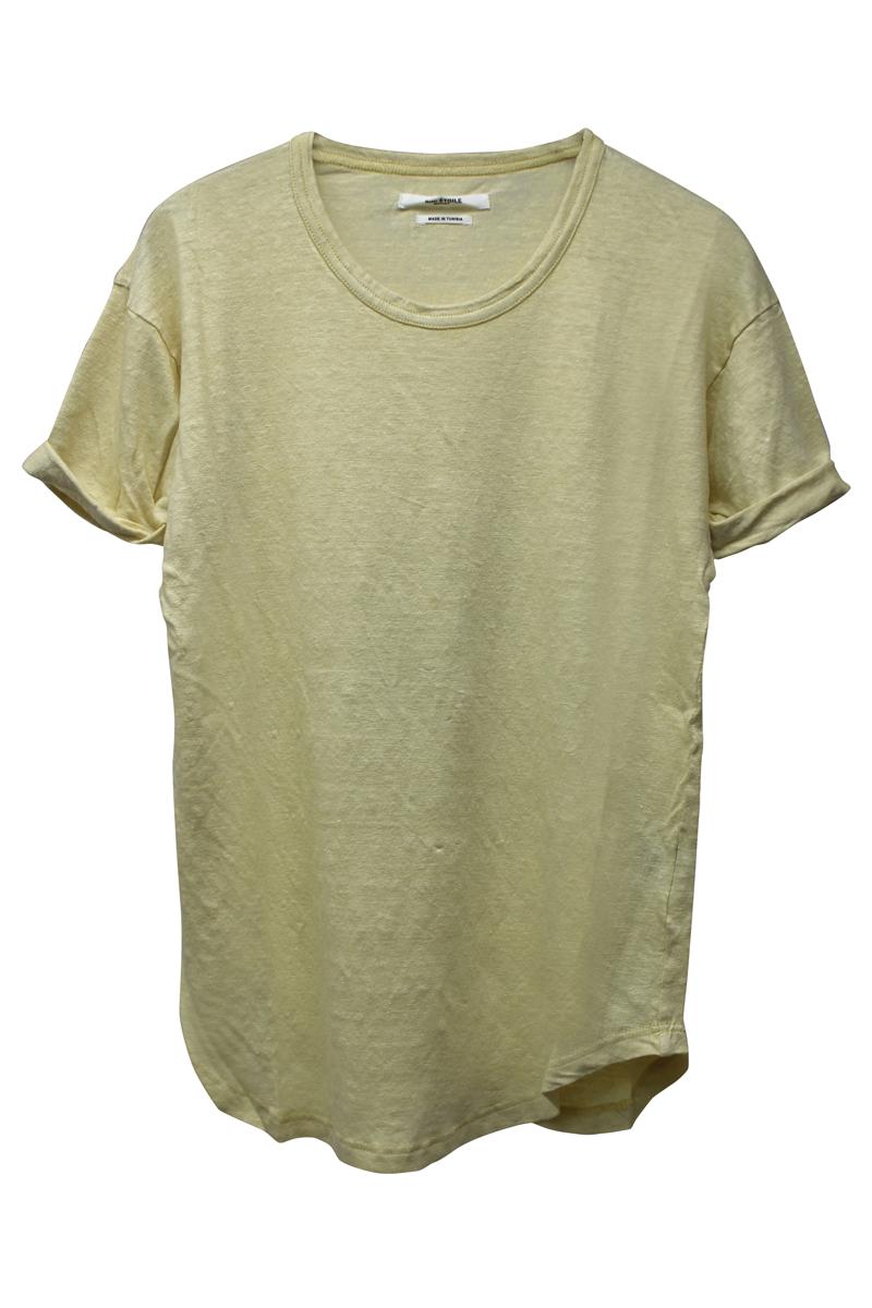 ISABEL MARANT ETOILE リネンロールアップTシャツ