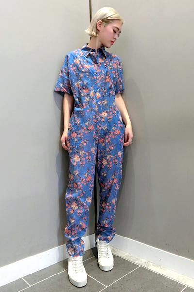 ISABEL MARANT ETOILE 【40%OFF】コットン花柄半袖オールインワン [19SS]