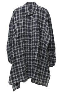 ISABEL MARANT 透かしチェックロングシャツ [19SS]
